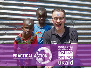 Pete Donaldson is back from Kenya! Help him raise money for Practical Action.