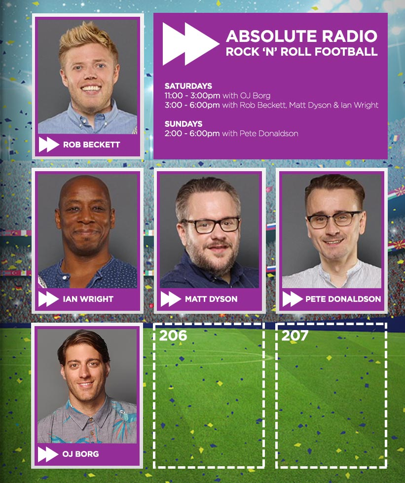Absolute Radio Rock'n'Roll Football