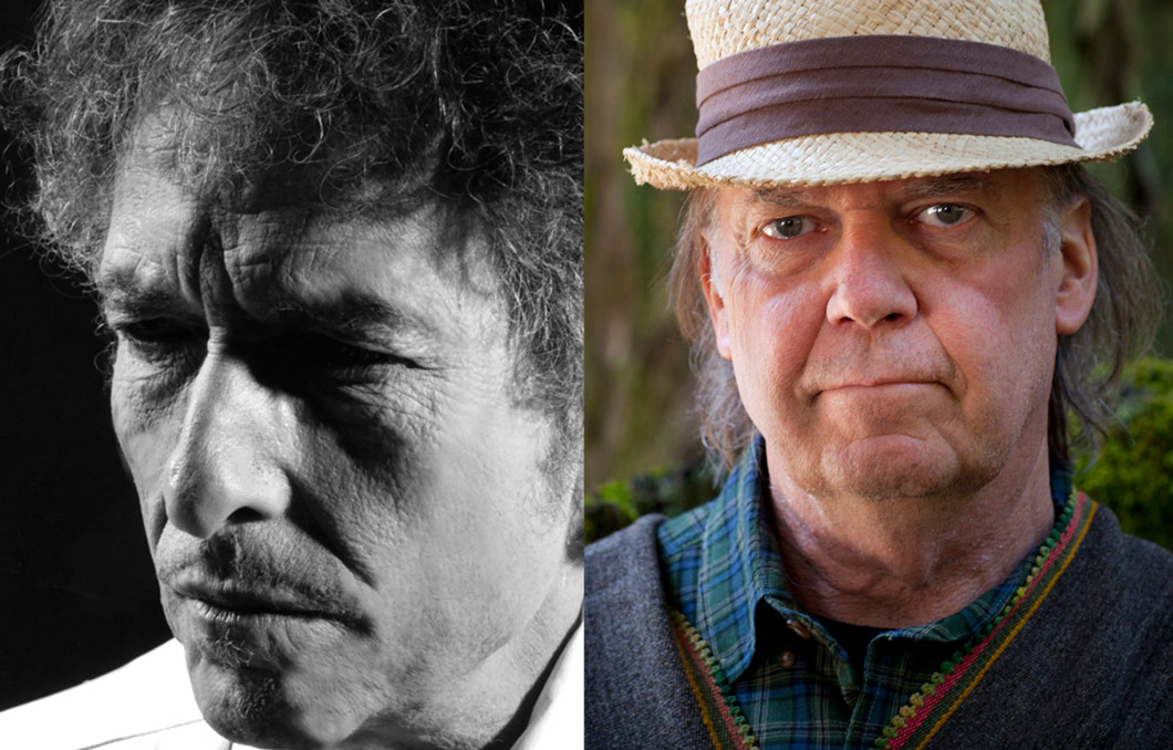 Bob Dylan and Neil Young